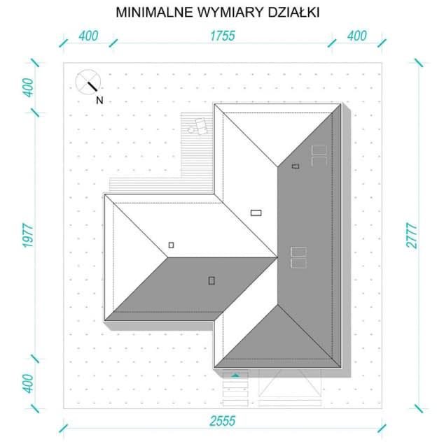 Rzut projektu Dla Melomana 2 - Usytuowanie na działce
