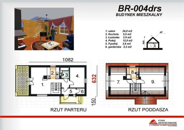 Rzut projektu BR-004drs - Rzut