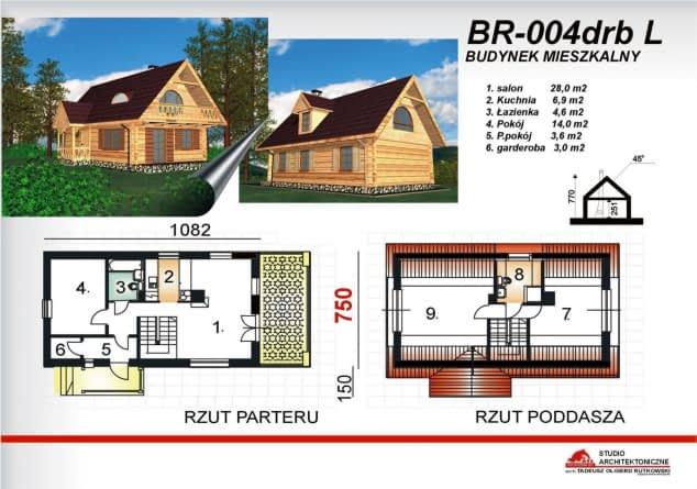 Rzut projektu BR-004 drbL - Rzut