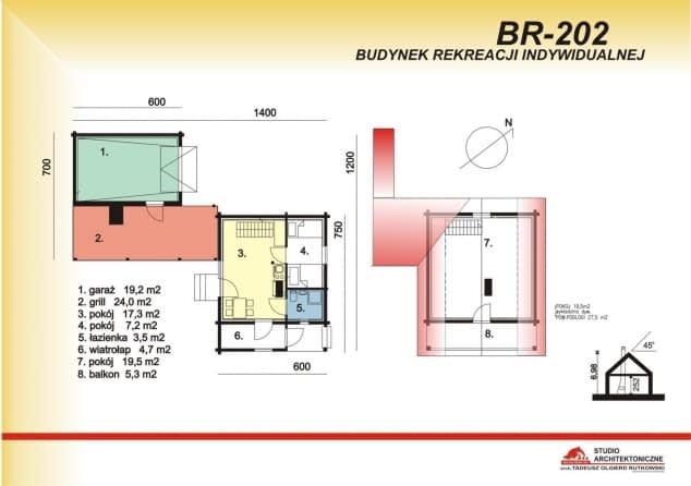 Rzut projektu BR-202 - Rzut