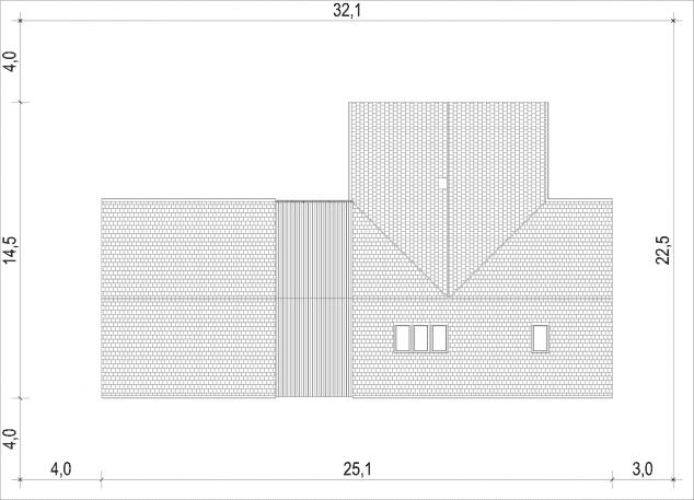 Rzut projektu House x44 - Zagospodarowanie działki