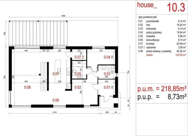 Rzut projektu House 10.3 - Rzut parteru