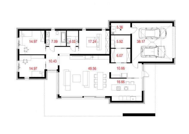 Rzut projektu House 11.1 - Rzut parteru