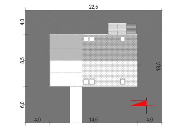 Rzut projektu House 27.1 - Zagospodarowanie działki