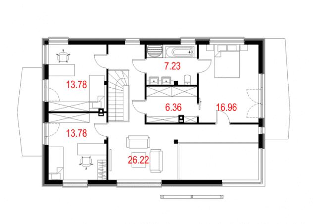 Rzut projektu House 10 - Rzut piętra