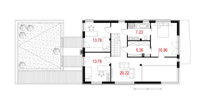 Rzut projektu House 10.1 - Rzut piętra