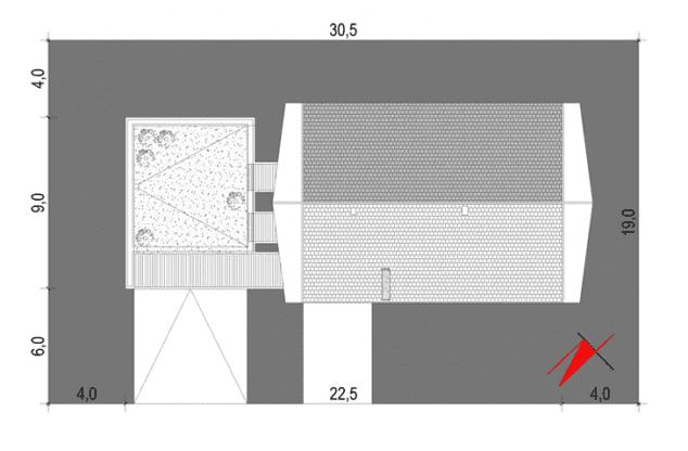 Rzut projektu House 10.1 - Zagospodarowanie działki