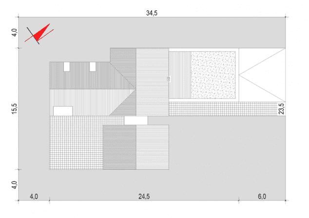 Rzut projektu House x03 - Zagospodarowanie działki