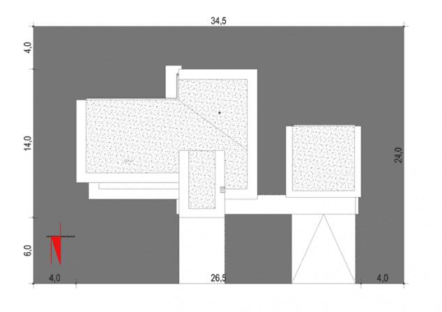 Rzut projektu House x02 - Zagospodarowanie działki