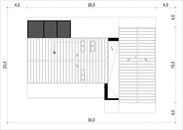 Rzut projektu House x15 - Zagospodarowanie działki