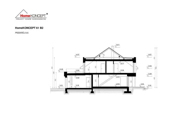 Rzut projektu HomeKONCEPT-61 B2 - Przekrój