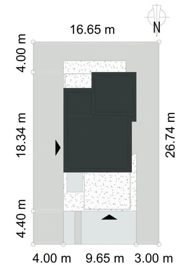 Rzut projektu GUSTOWNY D39 - Rzut na działce