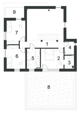 Rzut projektu INTRYGUJĄCY D32 - Rzut piętra