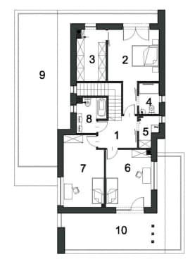 Rzut projektu PRZESTRONNY D40 - Piętro