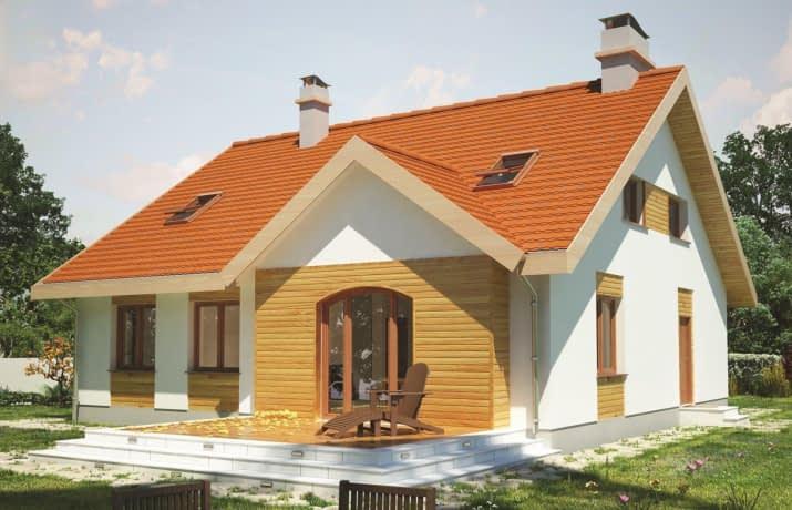Groszek dach dwuspadowy - wizualizacja 2