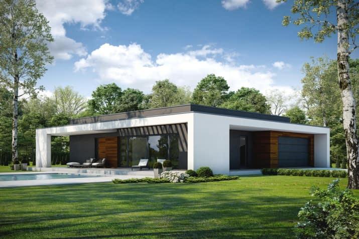Projekt domu OTWARTY D42 - wizualizacja 2
